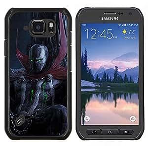 Caucho caso de Shell duro de la cubierta de accesorios de protección BY RAYDREAMMM - Samsung Galaxy S6Active Active G890A - Oscuridad del cráneo del demonio diablo