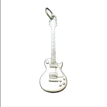 De plata de ley de guitarras Gibson y Les Paul en miniatura para guitarra eléctrica lámpara de techo colgante para collar con colgante en forma: Amazon.es: ...