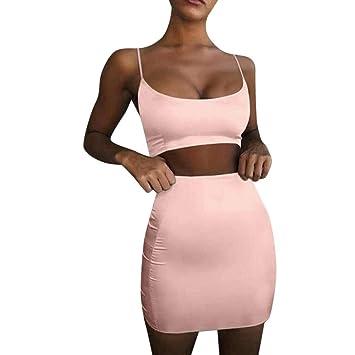 Amazon.com: Conjunto de 2 piezas de vestido de cami de ...