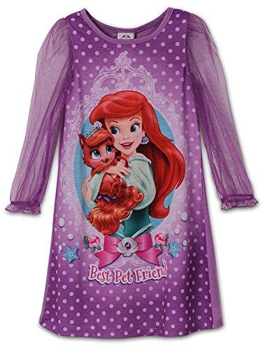 Disney Little Girls Ariel Palace Pets Gown Long Sleeve K157453PN -