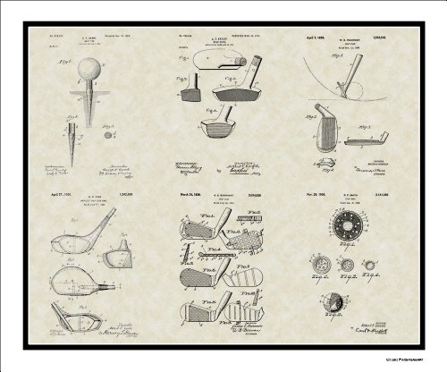 Patent Collection Golfer Coach Print product image