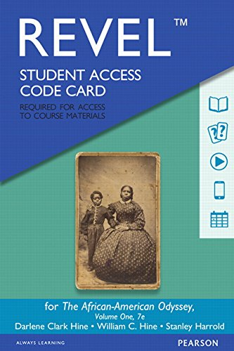 Books : REVEL for The African-American Odyssey, Volume 1 -- Access Card (7th Edition)