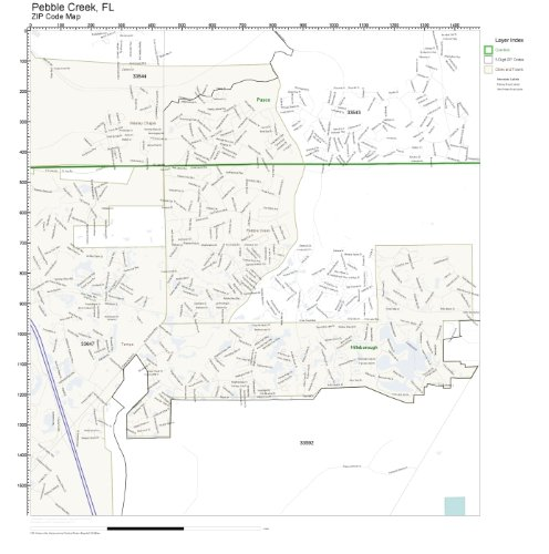 - ZIP Code Wall Map of Pebble Creek, FL ZIP Code Map Laminated