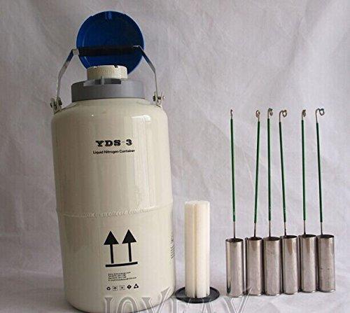 3 L Cryogenic Container Liquid Nitrogen Dewar Tank