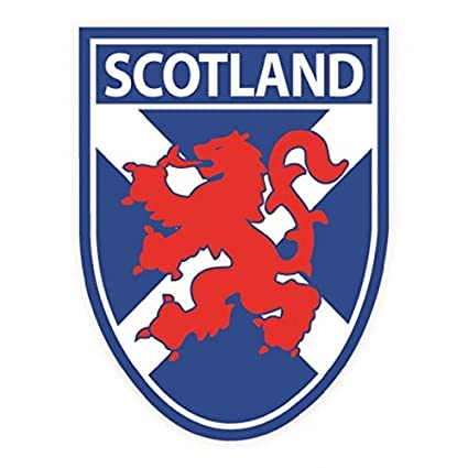 Scottish st andrews saltire flag with lion rampant shield vinyl car sticker decal