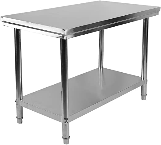 Acero inoxidable mesa mesa cocina Mesa Gastro Acero Inoxidable ...