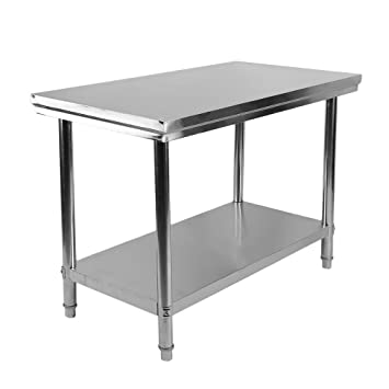 Acero inoxidable mesa mesa cocina Mesa Gastro Acero Inoxidable Mesa ...