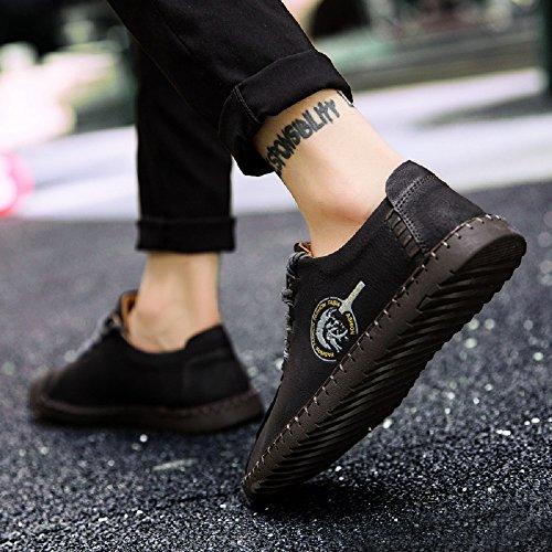 JOYTO Chaussures de Ville à Lacets Pour Homme Cuir Casual Suédine Classiques Élégantes Oxford Noir Marron Kaki 38-46 Noir VSc2wgf