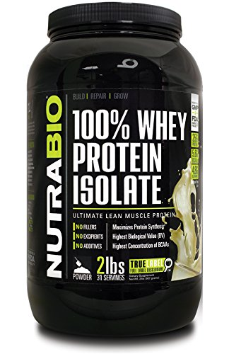 NutraBio 100 Whey Protein Isolate product image