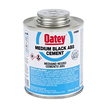Oatey Oatey 30892 ABS Medium Black Cement, 16 Ounces