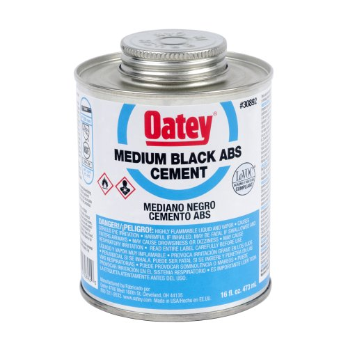 Oatey 30892 Medium Bodied Solvent Cement, 16 Oz, Can, Liquid, Black ()