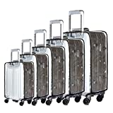 BlueCosto (Clear PVC) Travel Luggage Protector Suitcase Cover 28″ (19.7″L x 12.2″W x 28.3″H)