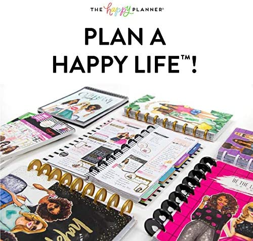 me & my BIG ideas The Happy Planner Box Kit - Sweat Smile Repeat Theme - 12 Month Undated - Vertical Layout - 5 Sheets of Stickers, 1 Pen, 1 Magnetic Bookmark, 4 Sticky Note Pads - Classic Size 9