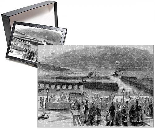 Photo Jigsaw Puzzle of The Arrival of the Indian Mail at Folkestone, 1844 - 1844 Engraving