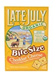 Late July Snacks Organic Bite Size Cheddar Cheese Crackers -- 5 oz