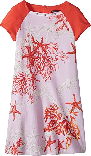 Versace Kids Girl's Short Sleeve Dress Starfish Print (Big Kids) Pink Print - Girls Versace