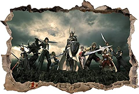 Final Fantasy Smashed Wall Decal Graphic Wall Sticker Decor Art Mural Game H437, Giant (Fantasy Mural)