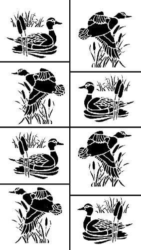 5-Inch by 8-Inch Ducks Armour Etch 20-0264 Stencil Rub N Etch Stencil