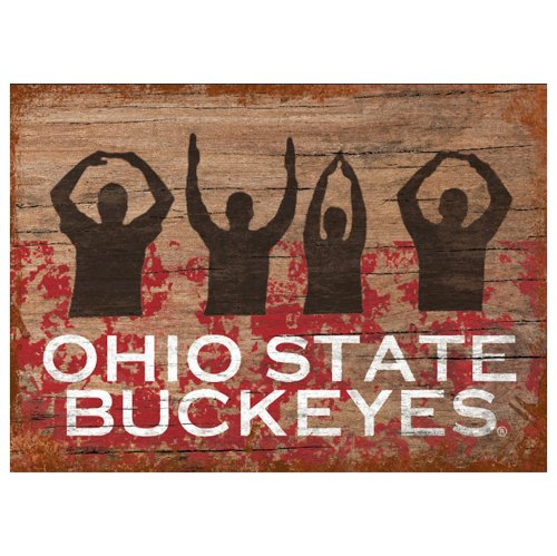 Price comparison product image Victory Postcards NCAA Ohio State Buckeyes Letters People Vintage Magnet,  One Size, Brown