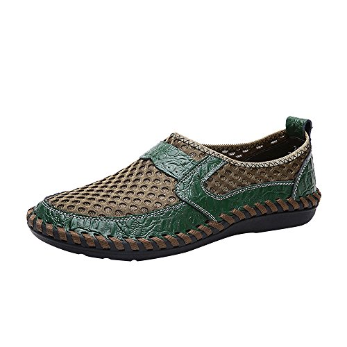 ✦◆HebeTop✦◆ Fashionable Men Breathable Sport Casual Pedals Shoes Green ()