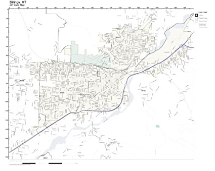 Amazon.com: ZIP Code Wall Map of Billings, MT ZIP Code Map Not ...