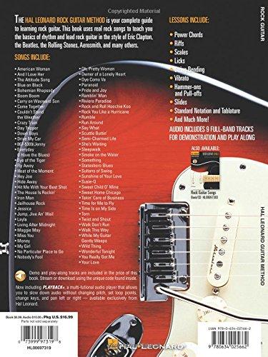 Hal Leonard Rock Guitar Method: Book/Online Audio (Hal Leonard Guitar Method (Songbooks))