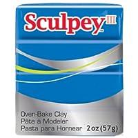 Arcilla polimérica Polyform Sculpey III, 2 onzas, azul nuevo (S302-063)