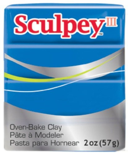 (Polyform Sculpey III Polymer Clay, 2-Ounce, New Blue (S302-063))
