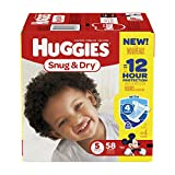 Health & Personal Care : Huggies Snug & Dry Disney Baby Stage 5 Diapers (Over 27 lb) - 58 CT