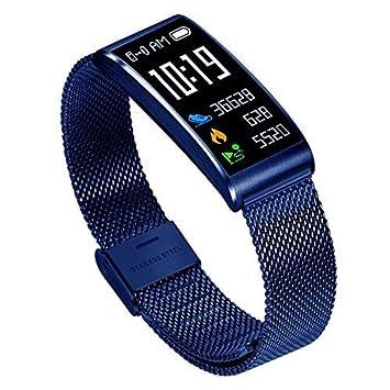 lexpon X3 IP68 Agua Densidad inteligente Fitness pulsera Schrittzaehler Tensiómetro de pulsera inteligente para Android IOS Fitness Tracker (Plata): ...