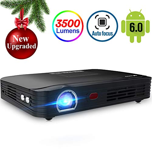 Projector 3500lumens Mini Portable DLP 3D Video Projector Max 300 '' Home Theater Projector Support 1080P HDMI WiFi Bluetooth USB...