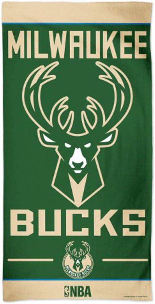 WinCraft Milwaukee Bucks Beach Towel 30x60 inches