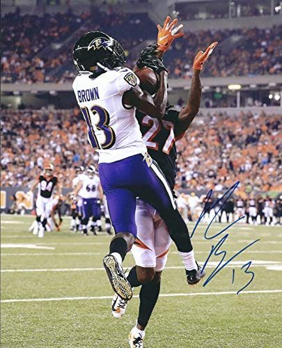 Autographed John Brown 8x10 Baltimore Ravens Photo