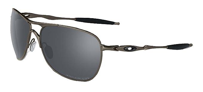8f50a314c4 Oakley Crosshair Sunglasses (Titanium Frame Polarized Black Mirror Lens)