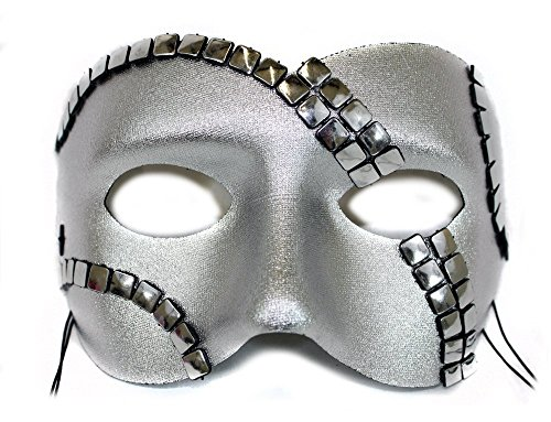 Luminary Silver Simulated Chain Mail Men's Masquerade Mask ()