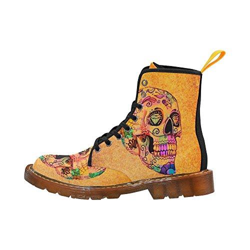 Leinterest Cool Skull Martin Botas Zapatos De Moda Para Hombres