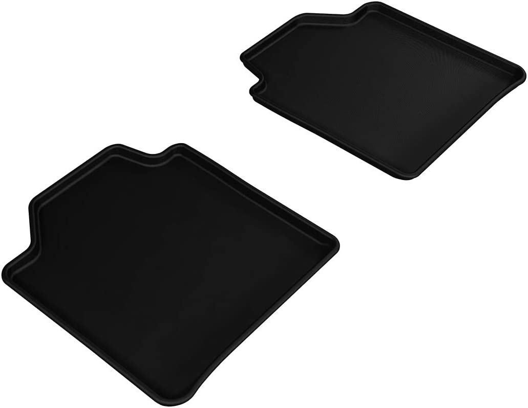 Gray F01 Kagu Rubber 3D MAXpider Second Row Custom Fit All-Weather Floor Mat for Select BMW 7 Series Models