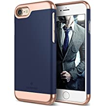 Caseology Savoy Series iPhone 7 / 8 Cover Case with Stylish Design Glide Protective for Apple iPhone 7 (2016) / iPhone 8 (2017) - Navy Blue