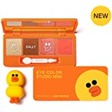美思 MISSHA(ミシャ) ラインフレンズエディション・アイカラースタジオミニ ・03号 サリーオレンジ(Missha Eye Color Studio Mini #03 Sally Orange) [並行輸入品]