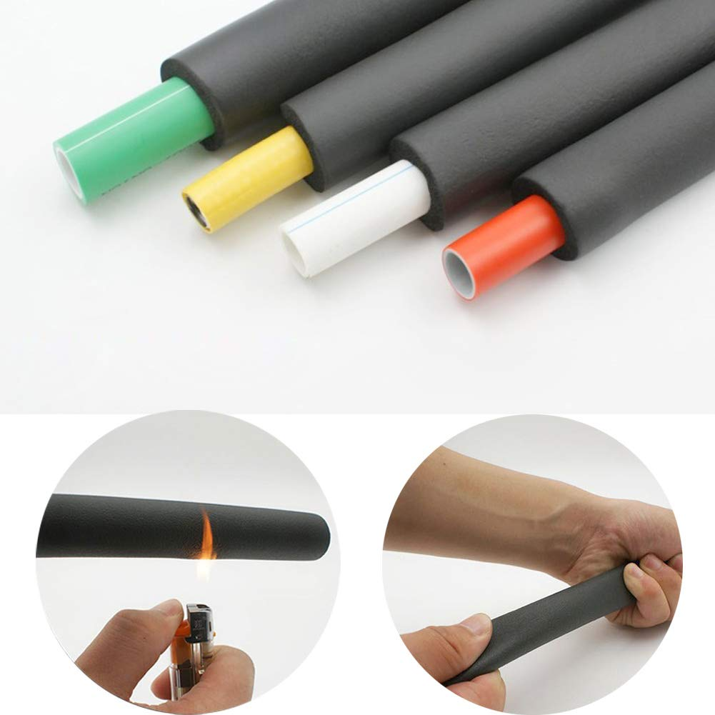7//8 ID x 5//8 Wall x 6Ft Pipe Insulation Foam Tube Black Insulation Pipe