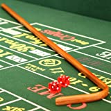 Deluxe Casino Craps Set with Felt, Dice Stick, Dice Cup, Dice, Chips & Button - Includes Bonus Deck of Cards!!