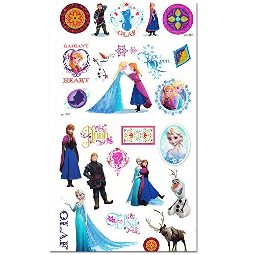 Disney Frozen Temporary Tattoos Dress Up Costume Set -- Over 110 Tattoos, Includes Glitter Tattoos! (Disney Frozen Tattoos)