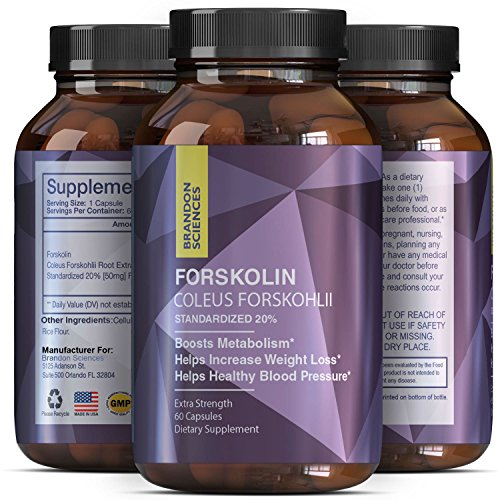 Forskolin Diet Pills For Men & Women - Natural Supplement To Enhance Your Workout & Burn Belly Fat - Pure Testosterone Booster & Build Lean Muscle - Forskolin Extract For Weight Loss