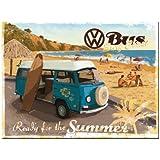 Nostalgic-Art 14264 Volkswagen Bulli listo para the Summer imán 8 x 6 cm