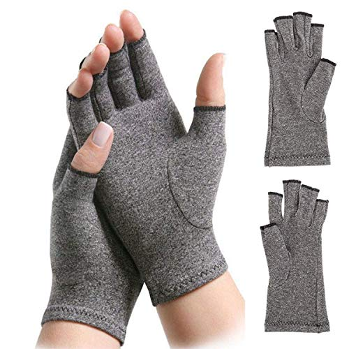 1 Pair Soft Arthritis Gloves, Compression Joint Finger Pain Relief Hand Wrist Support Brace High Elasticity (Size : L)