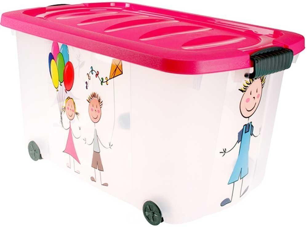 Boîte à jouets avec roulettes - Multifonction.