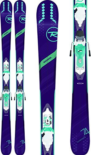 (Rossignol Experience 74 Skis w/Xpress 10 Bindings White/Blue Womens Sz 152cm)
