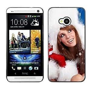 YOYO Slim PC / Aluminium Case Cover Armor Shell Portection //Christmas Holiday Sexy Hot Girl Woman 1019 //HTC One M7
