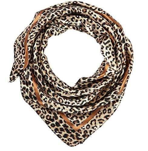 ALBERTO CABALE Silk Scarf Women Fashion Lightweight Soft Cozy Sunscreen Stretchy Shawls Wraps