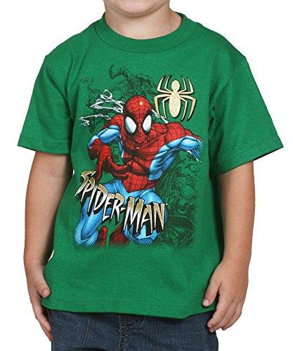 Spiderman Foe Escape Green Kids T-Shirt- Toddler 2T